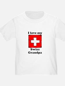 I Love My Swiss Grandpa T-Shirt