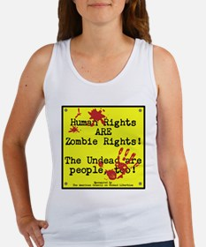 Human rights/Zombie rights Women's Tank Top