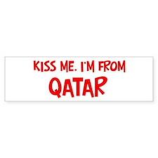 Kiss me Qatar Bumper Bumper Sticker