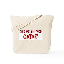 Kiss me Qatar Tote Bag