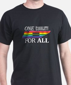 Tennessee one equality wht font T-Shirt