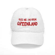 Kiss me Greenland Baseball Cap