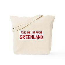 Kiss me Greenland Tote Bag