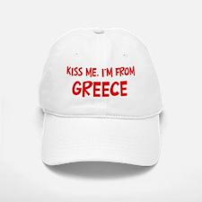 Kiss me Greece Baseball Baseball Cap