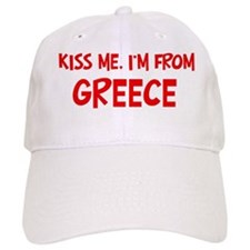 Kiss me Greece Baseball Cap