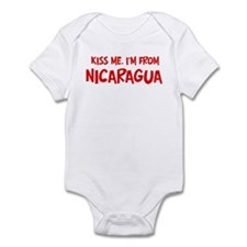 Kiss me Nicaragua Infant Bodysuit