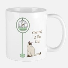 Curious is the Cat Mugs