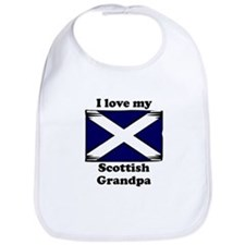 I Love My Scottish Grandpa Bib