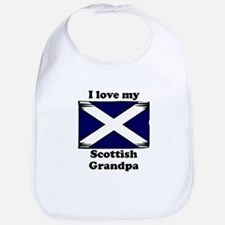 I Love My Scottish Grandpa Bib