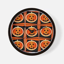 Pop Art Pumpkins Wall Clock
