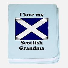 I Love My Scottish Grandma baby blanket