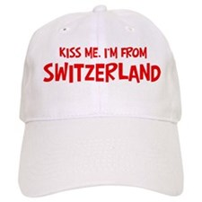Kiss me Switzerland Baseball Baseball Cap