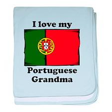 I Love My Portuguese Grandma baby blanket