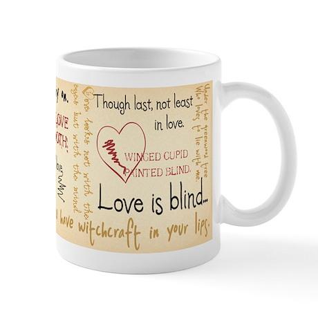 Shakespeare Love Quotes Mug