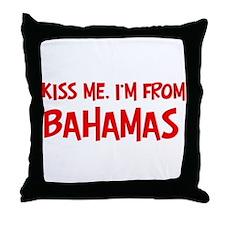 Kiss me Bahamas Throw Pillow