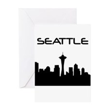 Seattle Skyline Greeting Cards