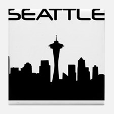 Seattle Skyline Tile Coaster