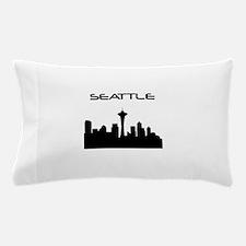 Seattle Skyline Pillow Case