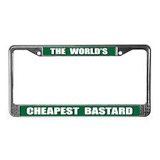 World's Cheapest Bastard License Plate Frame