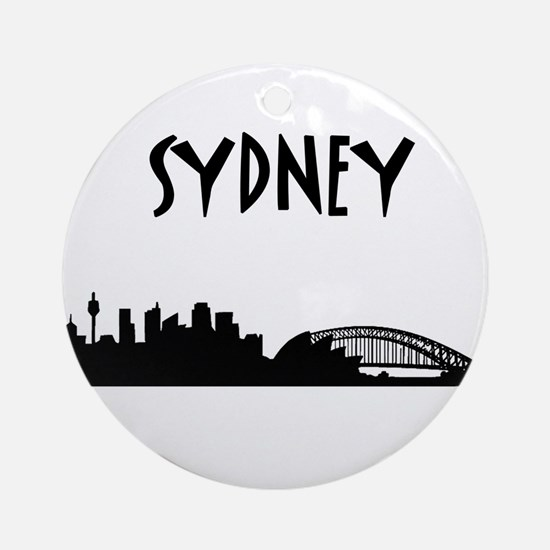 Sydney Skyline Ornament (Round)