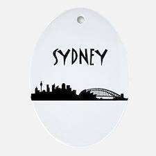 Sydney Skyline Ornament (Oval)