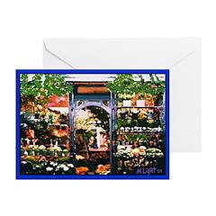 PARIS FLOWER SHOP Greeting Cards (Pk of 10)