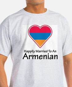 Happily Married Armenian Ash Grey T-Shirt