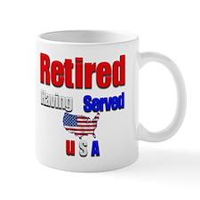 Retired. Mug