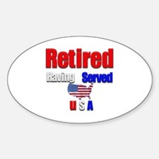 Retired. Oval Decal