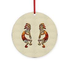 KOKOPELLI'S FLUTE Ornament (Round)