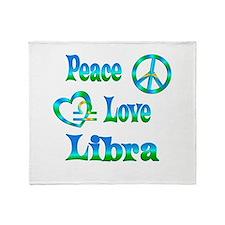 Peace Love Libra Throw Blanket