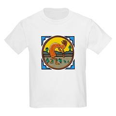 KOKOPELLI IN AGATE Kids T-Shirt
