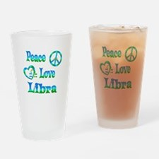 Peace Love Libra Drinking Glass