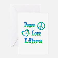Peace Love Libra Greeting Card