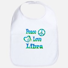 Peace Love Libra Bib
