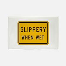 Slippery When Wet - USA Rectangle Magnet