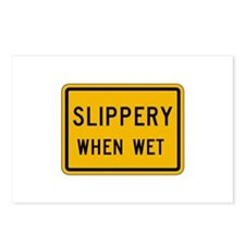 Slippery When Wet - USA Postcards (Package of 8)