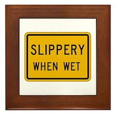 Slippery When Wet - USA Framed Tile