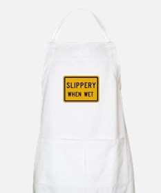 Slippery When Wet - USA BBQ Apron
