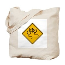Bicycle Slippery When Wet - USA Tote Bag