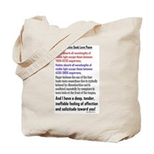 Science Geek Valentine Tote Bag