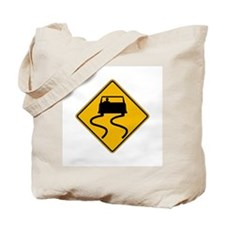 Car Slippery When Wet - USA Tote Bag