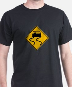 Car Slippery When Wet - USA T-Shirt