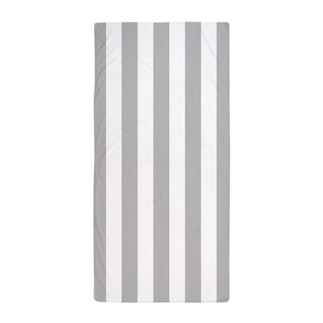 light gray and white vertical striped beach towel by 1512boulevard. Black Bedroom Furniture Sets. Home Design Ideas