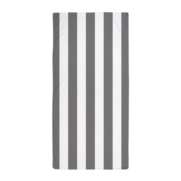 gray and white vertical striped beach towel by 1512boulevard. Black Bedroom Furniture Sets. Home Design Ideas