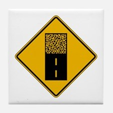 Pavement Ends - USA Tile Coaster