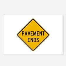 Pavement Ends 2 - USA Postcards (Package of 8)
