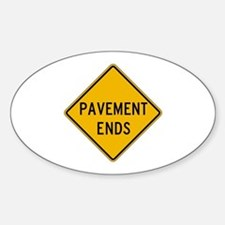 Pavement Ends 2 - USA Oval Decal