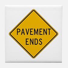 Pavement Ends 2 - USA Tile Coaster