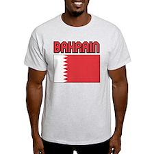 Bahrain Flag Ash Grey T-Shirt